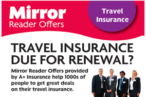 Daily Mirror Insurance Advertising